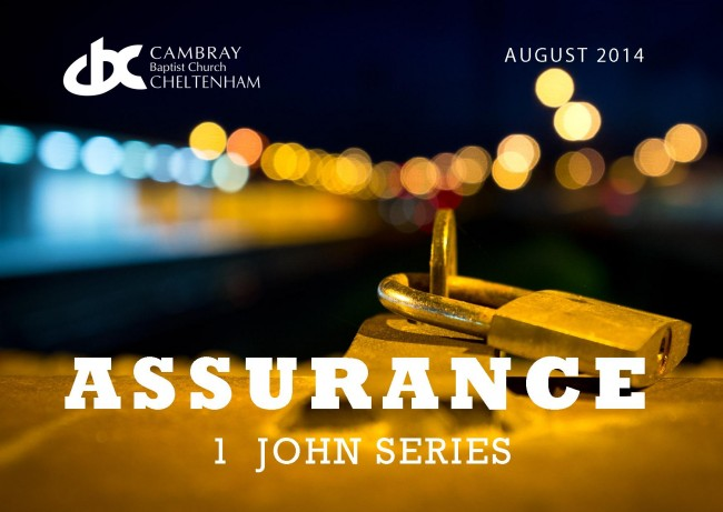 Assurance - 1 John Series Front Page